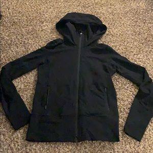 Black LULULEMON zip up jacket hoodie size 6
